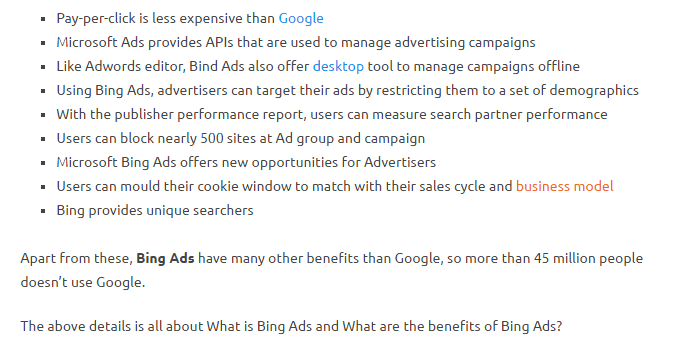 Bing Advertising Company India