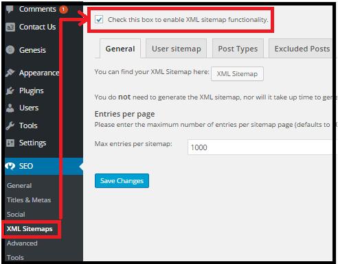 seo sitemap xml creation